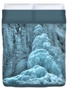 Frozen Falls Along The Icefields Parkway Duvet Cover