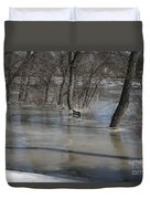 Frozen Floodwaters Duvet Cover