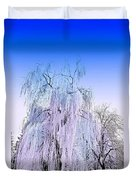 Frozen Fog Duvet Cover by Myrna Migala