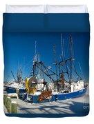 Frozen Hyannis Harbor Duvet Cover
