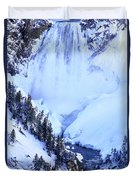 Frozen In Time Yellowstone National Park Duvet Cover