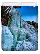 Frozen Kaaterskill Falls Duvet Cover