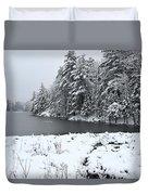 Frozen Lake 2 Duvet Cover