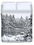 Frozen Lake 3 Duvet Cover