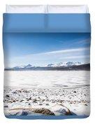 Frozen Lake Duvet Cover