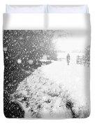 Frozen Moments - Walking Away Duvet Cover