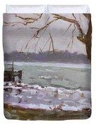 Frozen Niagara River Duvet Cover