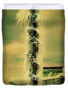 Frozen Over Niagara Falls Duvet Cover