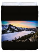 Frozen Reflections At Echo Lake Duvet Cover