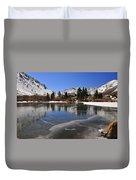 Frozen Sierra Lake Duvet Cover