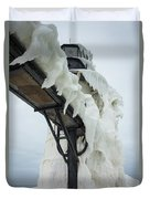 Frozen St. Joseph Outer Lighthouse Duvet Cover
