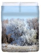 Frozen Trees By The Lake Duvet Cover