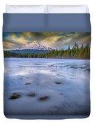 Frozen Trillium Duvet Cover