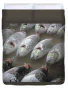 Frozen Tuna Fish At The Tsukiji Duvet Cover