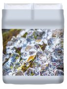 Frozen Water Droplets Duvet Cover