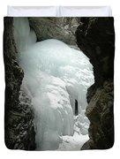 Frozen Zapata Falls Duvet Cover
