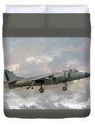 Frs1 Sea Harrier On Vertical Approach Duvet Cover