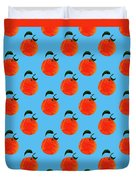 Fruit 01_orange_pattern Duvet Cover