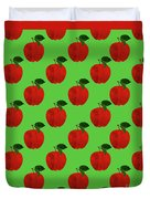 Fruit 02_apple_pattern Duvet Cover