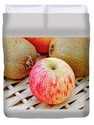 Fruit Basket. Apple. Duvet Cover