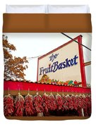 Fruit Basket Stand Duvet Cover