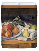 Fruit On A Table Duvet Cover