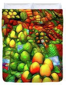 Fruit Stand At La Boqueria Duvet Cover