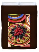 Fruit Tart Pie Duvet Cover