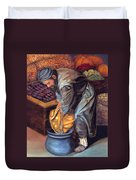 Fruit Vendor Duvet Cover