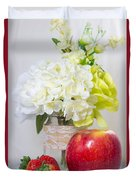 Fruits And Flowers Duvet Cover