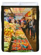 Fruits And Vegetables - Pike Place Market Duvet Cover