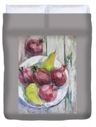Fruits In Vintage Duvet Cover