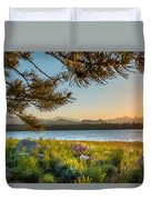 Frye Lake Flowers Duvet Cover