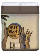 Ft Lauderdale Volleyball Time Duvet Cover