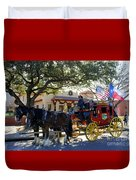 Ft Worth Stockyards Stagecoach  Duvet Cover