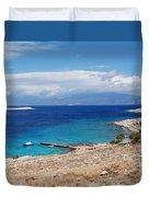 Ftenagia Beach On Halki Duvet Cover