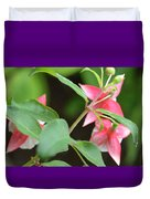 Fuchsia From Above Duvet Cover