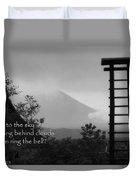Fuji Bell Haiku Duvet Cover