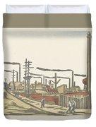 Fukagawa Bedrijventerrein  Maekawa Senpan  1945 Duvet Cover