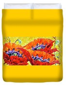 Full Bloom Poppies By Prankearts Fine Art Duvet Cover