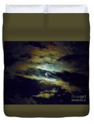 Full Moon And Clouds Duvet Cover