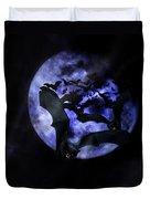 Full Moon Bats Duvet Cover