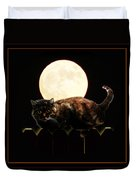 Full Moon Cat Duvet Cover