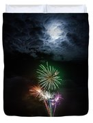 Full Moon Fireworks Duvet Cover