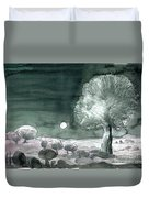Full Moon Olive Tree  Duvet Cover