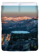 Full Moon Set Over Desolation Wilderness Duvet Cover