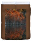 Full Of Glory - Cypress Trees In Autumn Duvet Cover