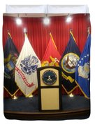 Full View Swearing In Flags Duvet Cover