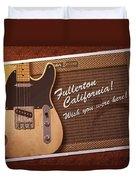 Fullerton Postcard Duvet Cover
