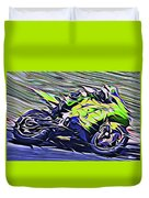 Fullspeed On Two Wheels 8 Duvet Cover